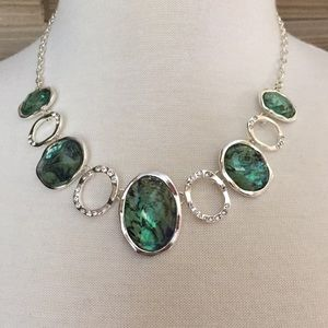 Jewelry - NEW Silver & Abalone Statement Necklace